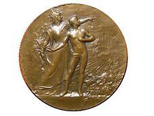 Art Nouveau Military Preparation Bronze Medal by Lucien COUDRAY / M35