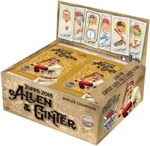 2018 Topps Allen /& Ginter Baseball 24 Pack Box FACTORY SEALED
