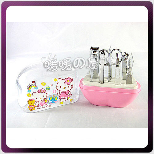 Hello Kitty Makeup Cosmetic Nail Manicure 8in1 Set Kit