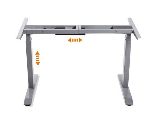 OFFICE ONE Schreibtisch Tischgestell höhenverstellbar mit Memory-Funktion Grau