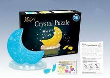 3D Crystal Puzzle Jigsaw 26pcs Moon Blue or Yellow X-mas Gift Kid IQ Toy Present