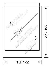 18-1-2-x-24-1-2-inch-MYLAR-Sleeve-s-4mil-no-flap