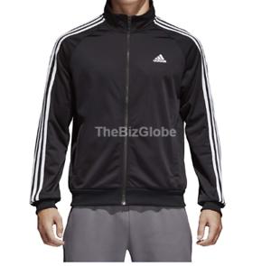 9e6ed9b791cb Adidas Men s Essentials 3-Stripe Tricot Track Jacket Black White ...