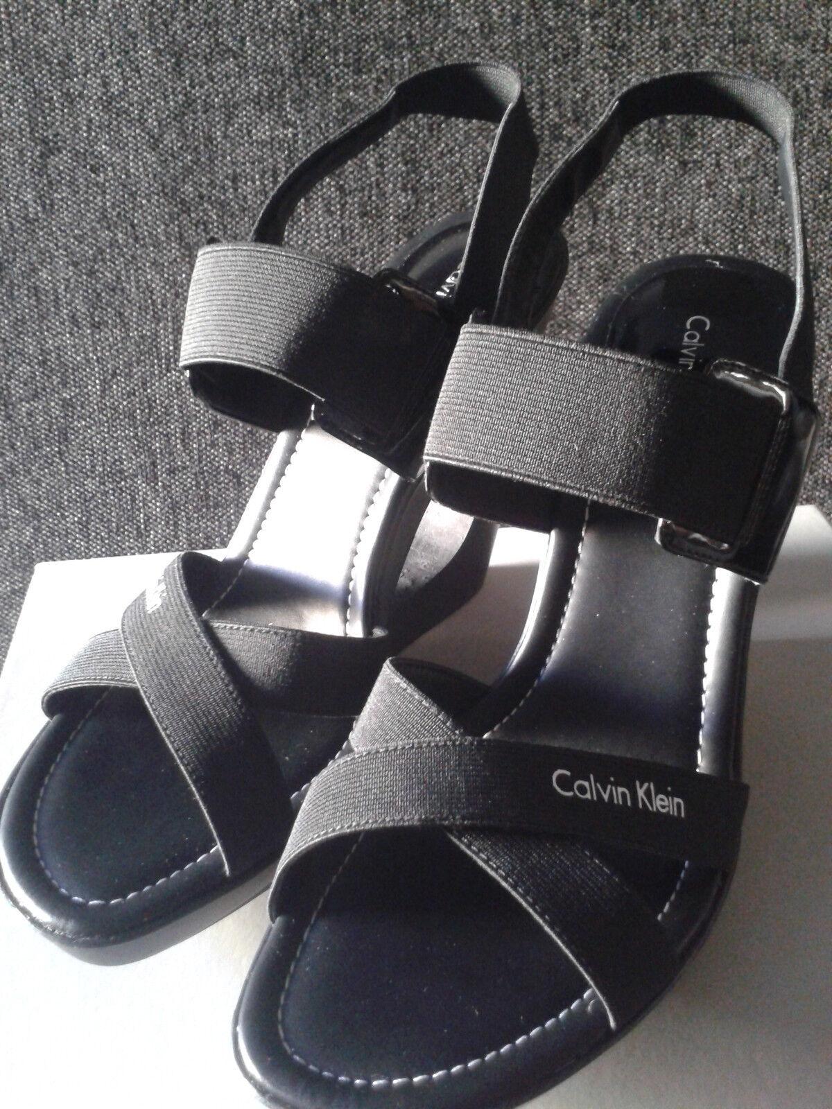 Último gran descuento NEU!! Calvin Klein Damenschuhe Pumps/Sandalen Größe 39 schwarz original mit OVP!