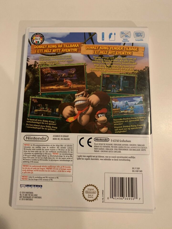 Donkey Kong Country Returns, Nintendo Wii, adventure
