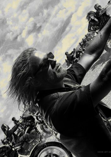 SONS OF ANARCHY JAX CHARLIE HUNNAM TELEVISION POSTER TV A4 A3 ART PRINT