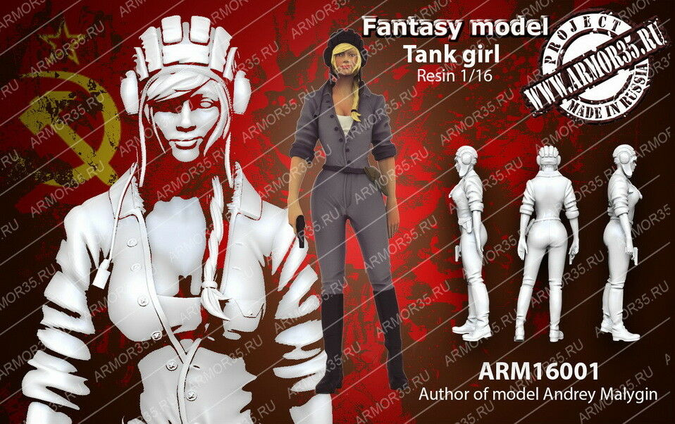 Armor35 1 16 Fantasy - Tank Girl
