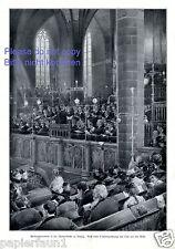 Thomaskirche Leipzig XL Kunstdruck v. 1910 Otto von der Wehl Weihnachten Konzert