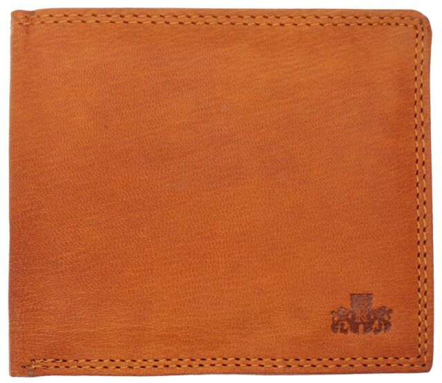 Simple Buffalo Compact Flip Up Mens Brown Genuine Leather Slimfold Wallet Purse