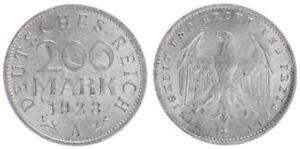 Weimar 200 Mark 1923 A Lichtenrade Embossing (1) XF 35339