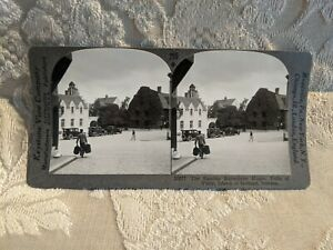 ANTIQUE-STEREOVIEW-PHOTO-CARD-THE-FAMOUS-BURMEISTER-HOUSE-GOTLAND-SWEDEN