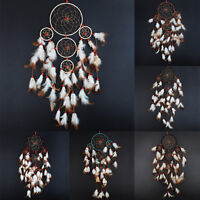 Indian Style Dream Catcher Handmade Hanging Feather Decoration For Wall Car Home