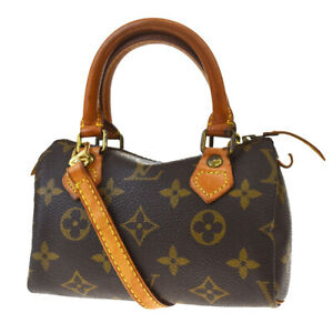 Auth-LOUIS-VUITTON-Mini-Speedy-2Way-Hand-Bag-Monogram-Leather-M41534-14MD803