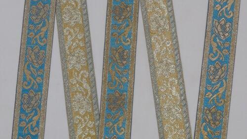 "1.90/"" wide By The Yard Jacquard Trim Woven Braid Sew Ribbon T879 4.82 Cm"