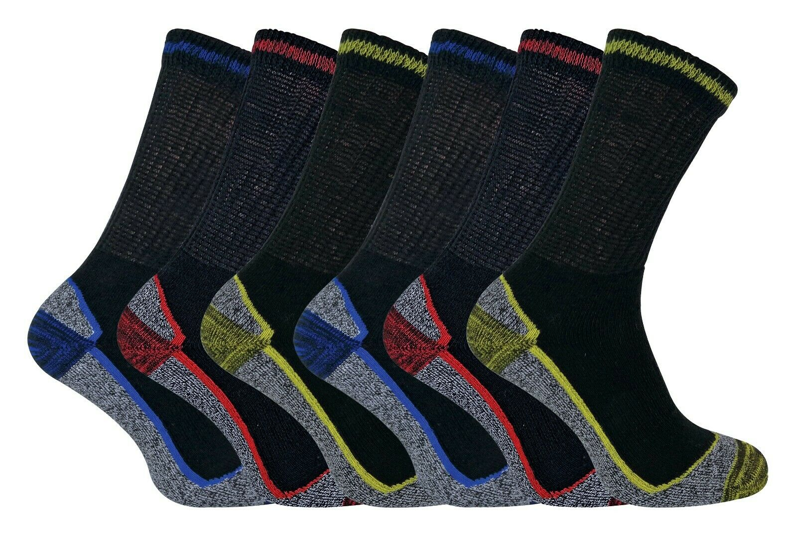 Image 01 - Mens-Breathable-Anti-Sweat-Heavy-Duty-Cotton-Bamboo-Work-Boot-Socks-for-Summer