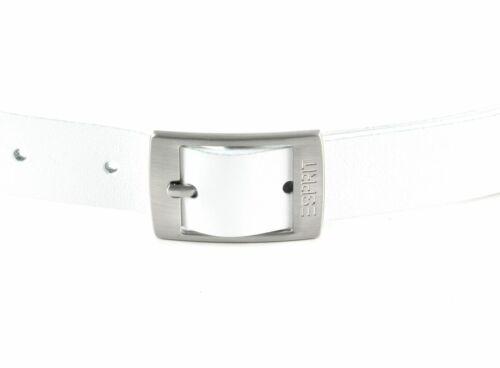 Esprit Xoctavia leather belt w85 Ceinture Accessoire White Blanc Nouveau
