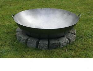 80cm kl pperboden feuerschale feuerstelle lagerfeuer kamin grill eisenschale ebay. Black Bedroom Furniture Sets. Home Design Ideas