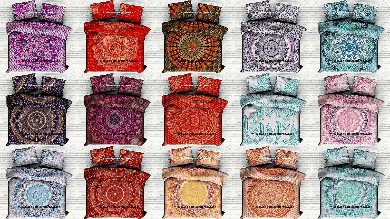 Indian Ombre Mandala Duvet Cover Comforter Doona Queen Bohemian Bedding Blanket