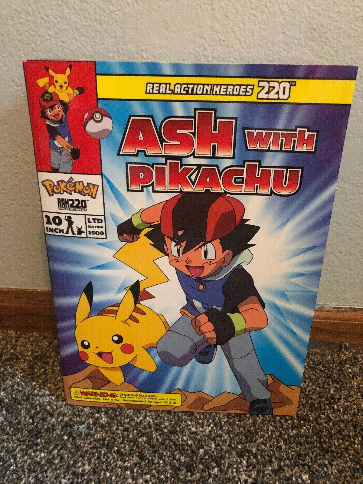 Figura RAH220 No.41 ceniza con Pikachu Satoshi con Pikachu