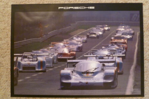 1983 Porsche Rothmans 956 Showroom Advertising Poster RARE! Awesome L@@K