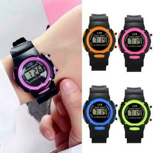 Boys-Girls-LCD-Digital-Electronic-Sports-Wrist-Watches-Watch-Waterproof-X5A7