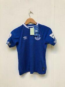 Everton-Umbro-Kid-039-s-18-19-Shirt-10-11-Years-Richarlison-30-New-with-Defects