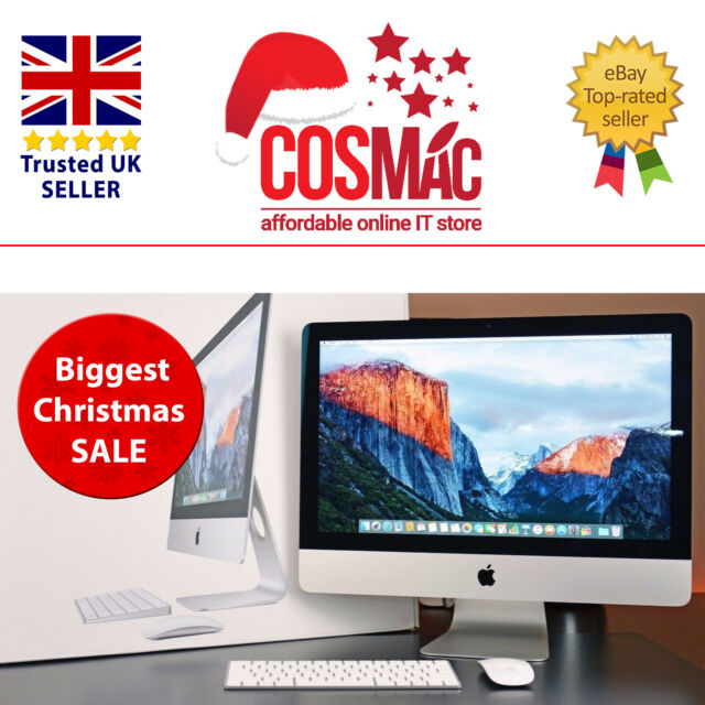"Apple Imac A1418 21.5"" Desktop i5 8 Go 1 To (octobre 2015), + Apple Boîte Garantie"