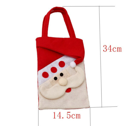 Christmas Kids Gift Candy Bags Santa Claus Snowman Storage Bag Xmas MA