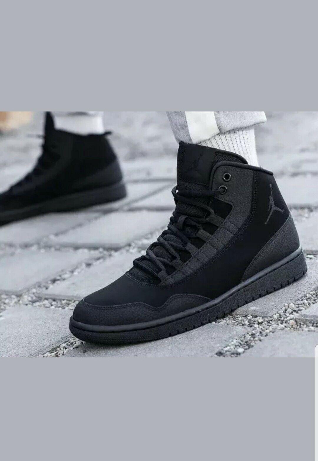 Jordan EXECUTIVE Mens Black Black-Black 820240-010 Sneaker shoes Size 12