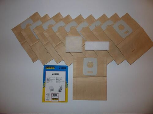 10 Sacchetto per aspirapolvere per Alaska BS 1150 et Z 800 Z-ET Bestron K 4000 5000 RO 69