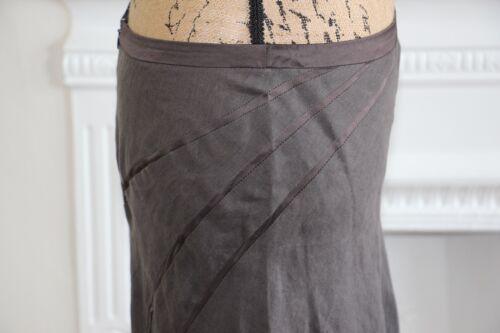 lin brun en longue mi Jupe Bnwt ruban Nicole Farhi avec qFpxaqYT