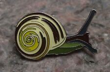 Pretty North American Banded Land Snail Mollusc with Shell Brooch Pin Badge