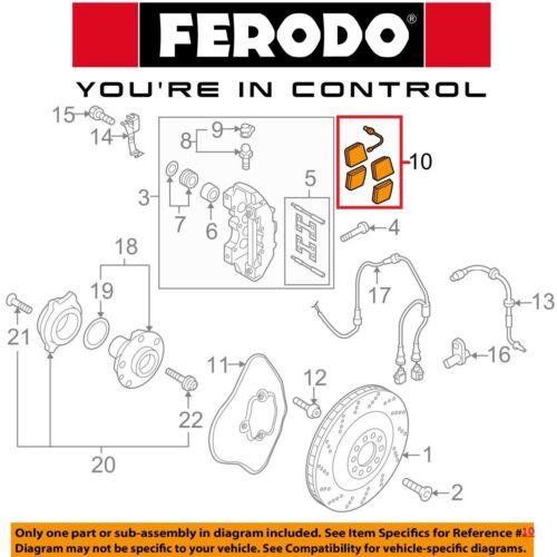 For VW Audi R8 2014-2015 Front Brake Pads Set w// Sensor Ferodo OEM 420698151E