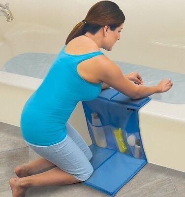 Kneeling Bath Caddy Pad Holder Infant Toddlers Knee Holds Bottles Shampoo Wash
