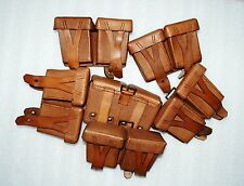 #2 MOSIN NAGANT RUSSIAN  AMMO POUCH 1950 USSR, LEATHER lot 2pc.
