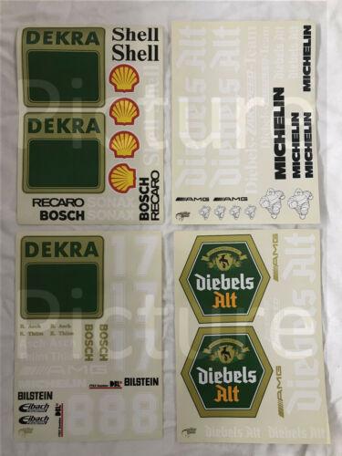 Dekorbogen Decals FG Yankee Maßstab 1//4 3 Stück Mercedes 190E Evo2 DTM