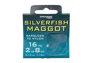 Drennan Carbon Feeder Barbed Hook To Nylon All Sizes
