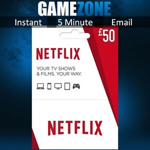 50 Netflix Gift Card - UK £50 GBP Digital Card - United Kingdom | eBay