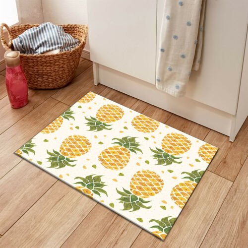 Rugs Carpets Rectangle Area Rug Soft Floor Door Mat Bedroom Carpet Tropical Plants Pineapples Home Garden Casaalvarezrh Com