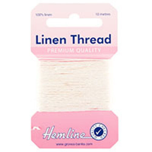 HEMLINE H100101 White Linen Thread: 10 M