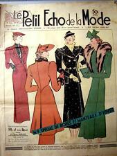 LE PETIT ECHO DE LA MODE, 1937 n° 40, tricot..... aperçu et modèles dans annonce