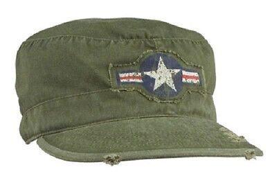 Affidabile Us Vintage Fatigue Air Corps Usaf Berretto Army Cap W Star Od Green-mostra Il Titolo Originale Qualità Eccellente