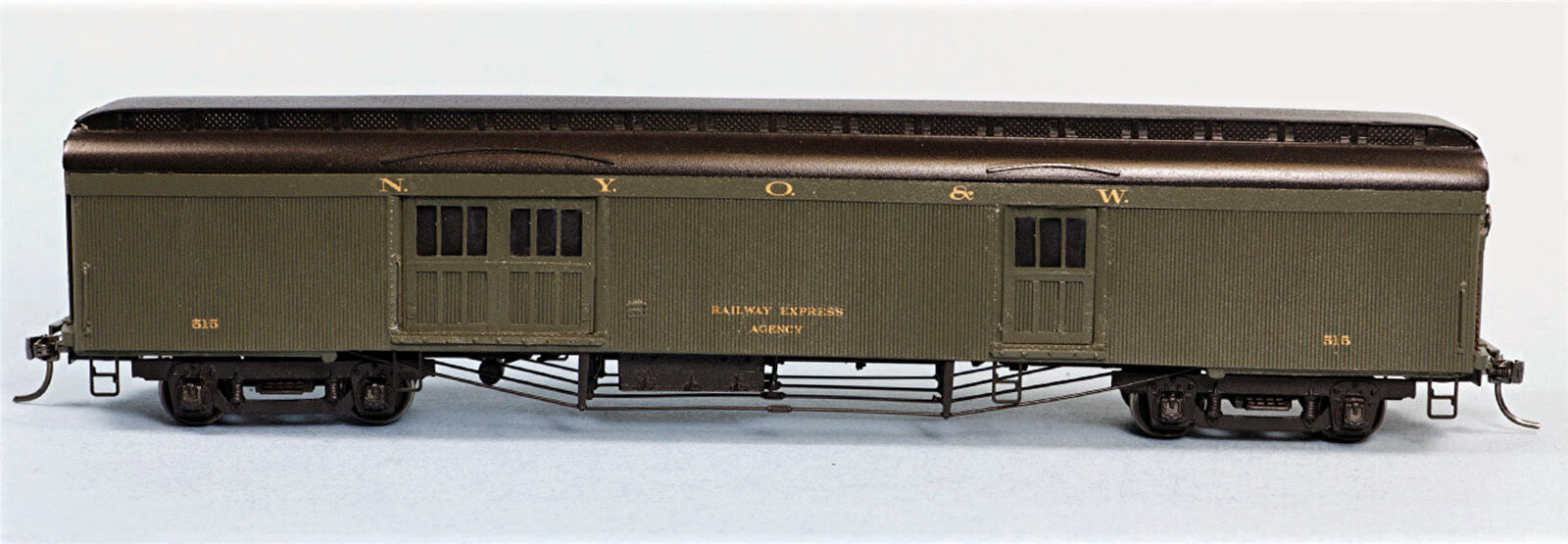 NEW YORK, ONTARIO & WESTERN BAGGAGE CAR HO Model Railroad Unptd Kit SPK36