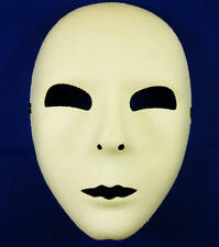 Plain White Face Mask Fancy Dress Theatre Halloween