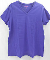 Women's Plus Size Perfect V Neck Shirt In Dark Purple