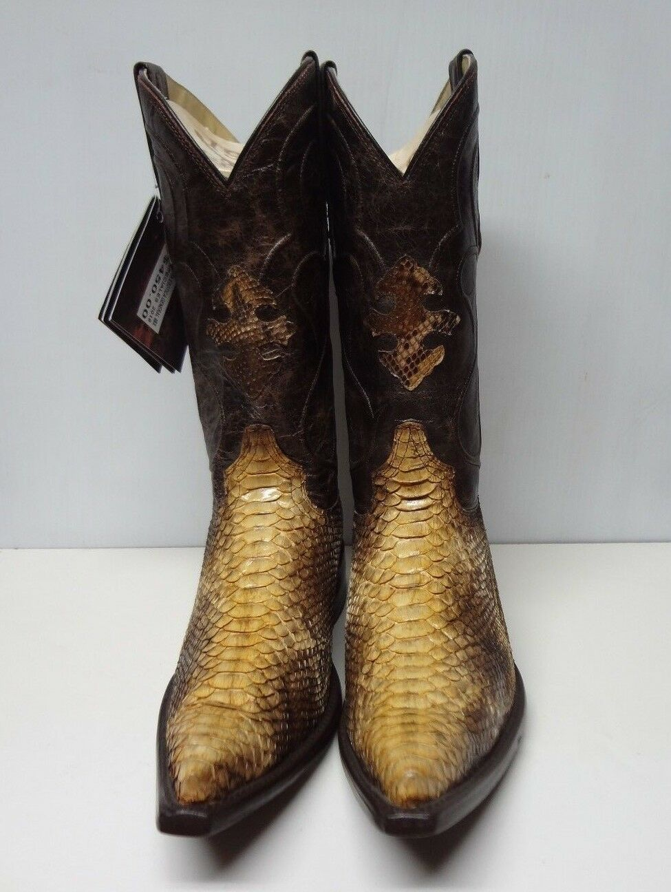 New Sie's Real Python Snake Skin Original Leather Cowboy Stiefel Rodeo Western C106