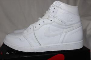 01dcafcb5bcb8 Air Jordan 1 Retro High OG Mens 555088-100 White Black Perforated ...
