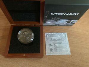 Niue-1-Dollar-Space-Mining-II-034-El-Kahal-Meteorite-034-2019-Antique-finish-Silber