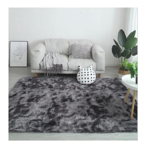 Teppiche Plüsch Teppich Hochflor Wohnzimmer Schlafzimmer Deko Weich Einfarbig