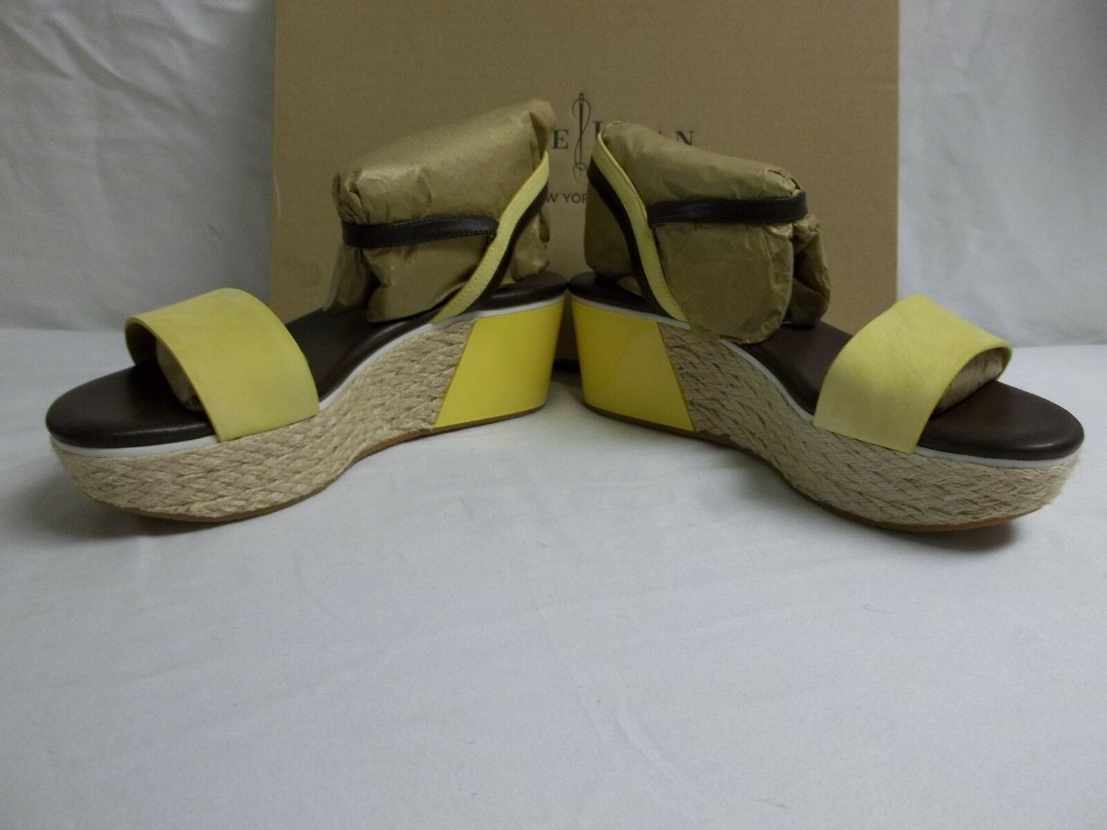 Cole Haan Dimensione 8.5 M Arden Leather Sunlight Wedges Wedges Wedges Sandals New donna scarpe 061fb8